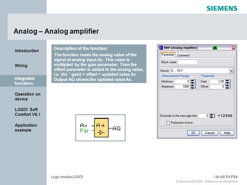 Analog – Analog amplifier
