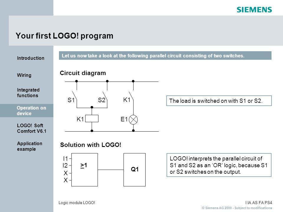 Your first LOGO! program