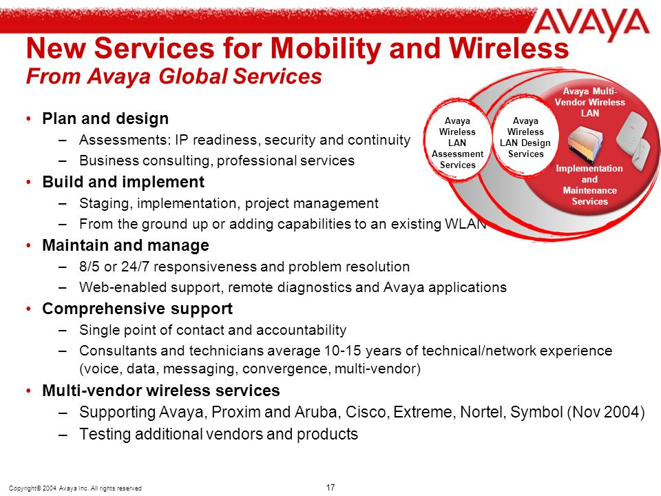 New Services for Mobility and Wireless From Avaya Global Services