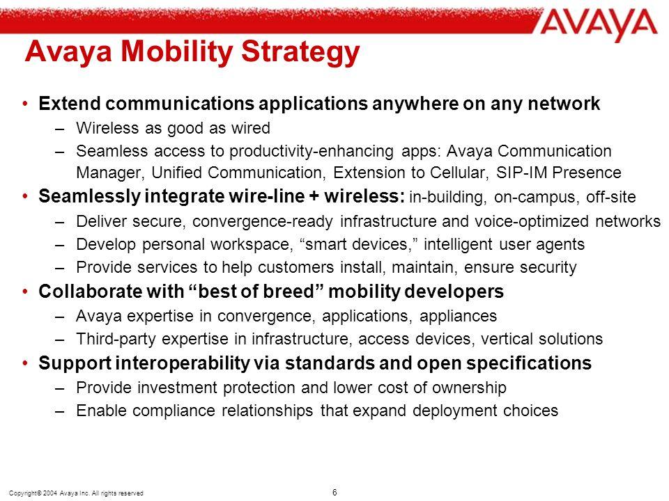 Avaya Mobility Strategy