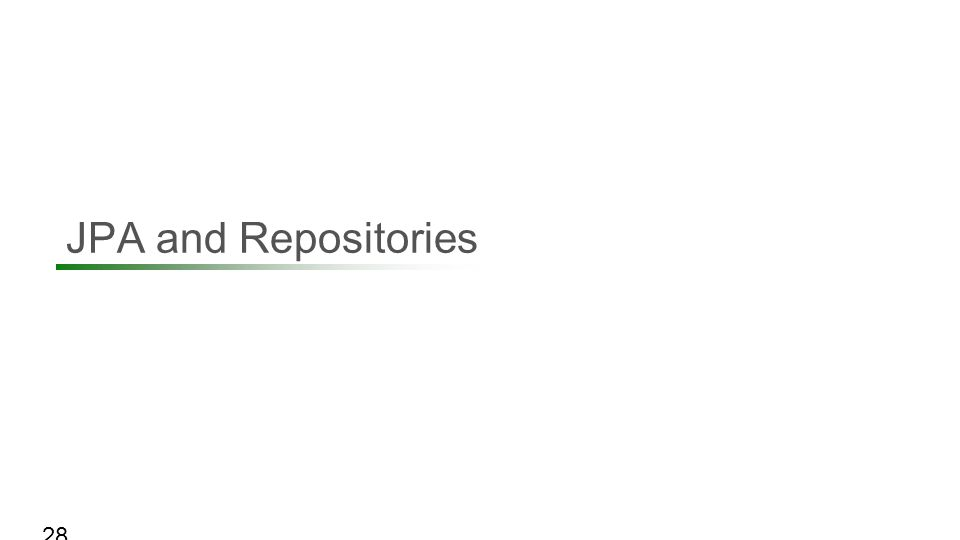 JPA and Repositories