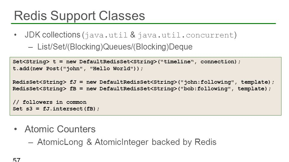 Redis Support Classes Atomic Counters