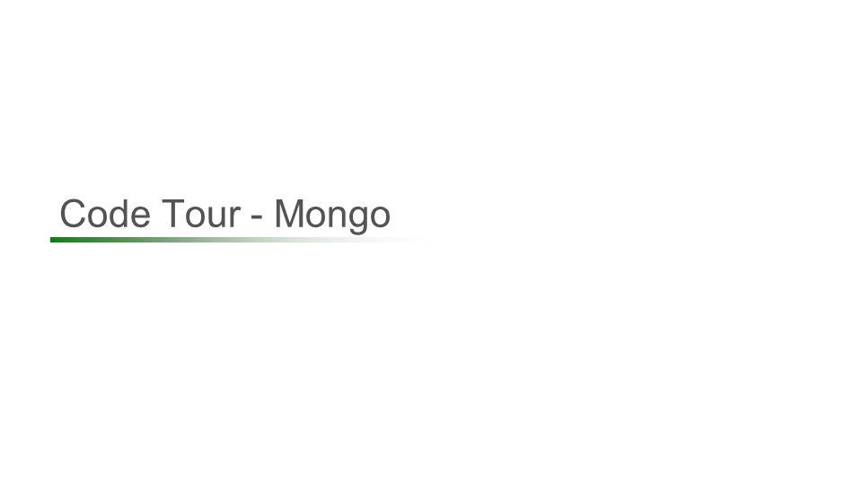 Code Tour - Mongo