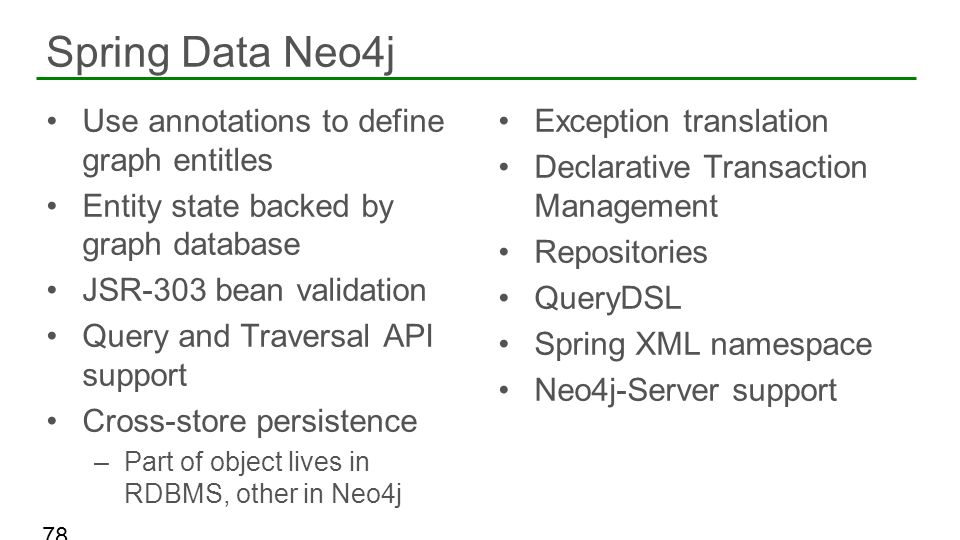 Spring Data Neo4j Use annotations to define graph entitles
