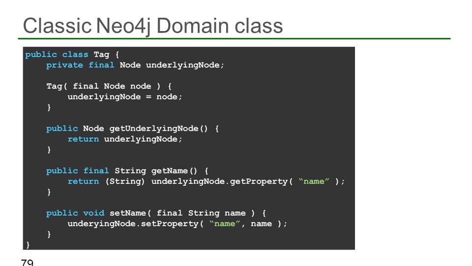 Classic Neo4j Domain class