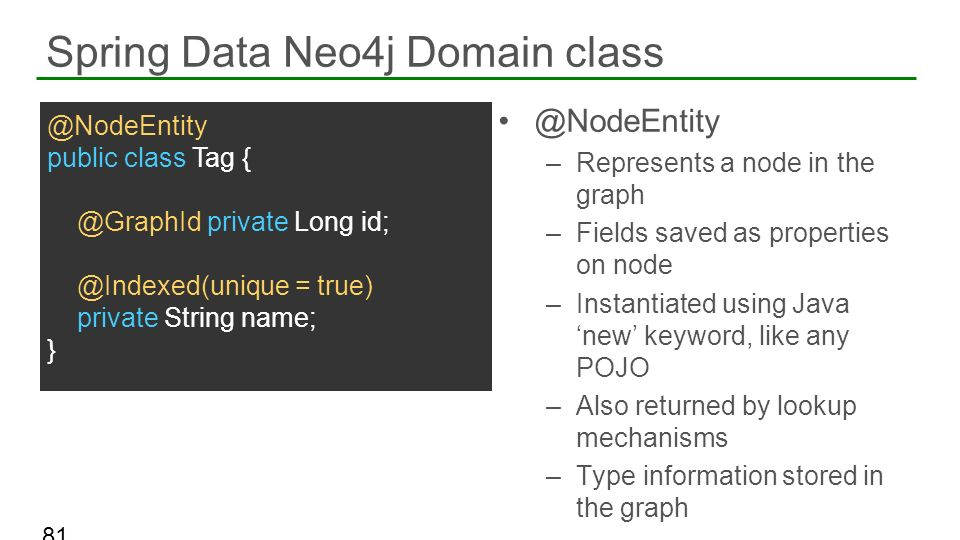 Spring Data Neo4j Domain class