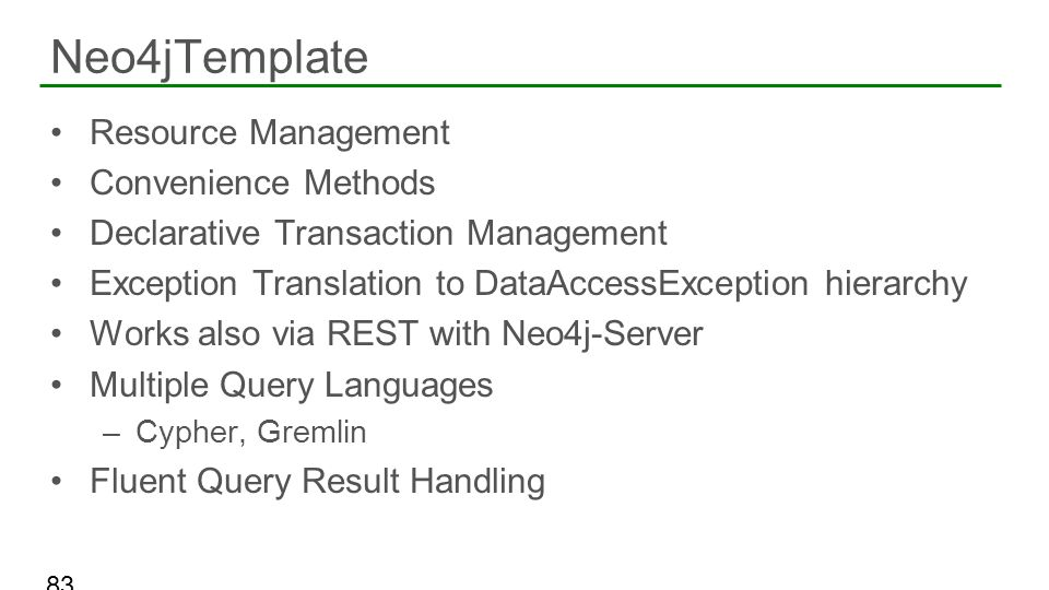 Neo4jTemplate Resource Management Convenience Methods