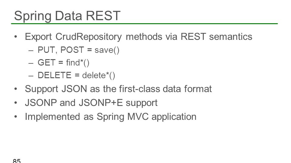 Spring Data REST Export CrudRepository methods via REST semantics