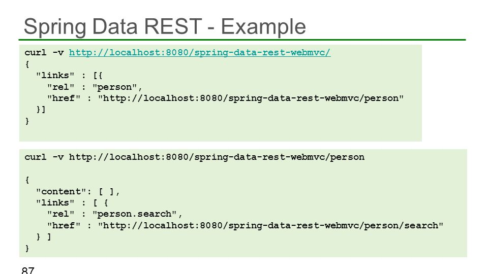 Spring Data REST - Example