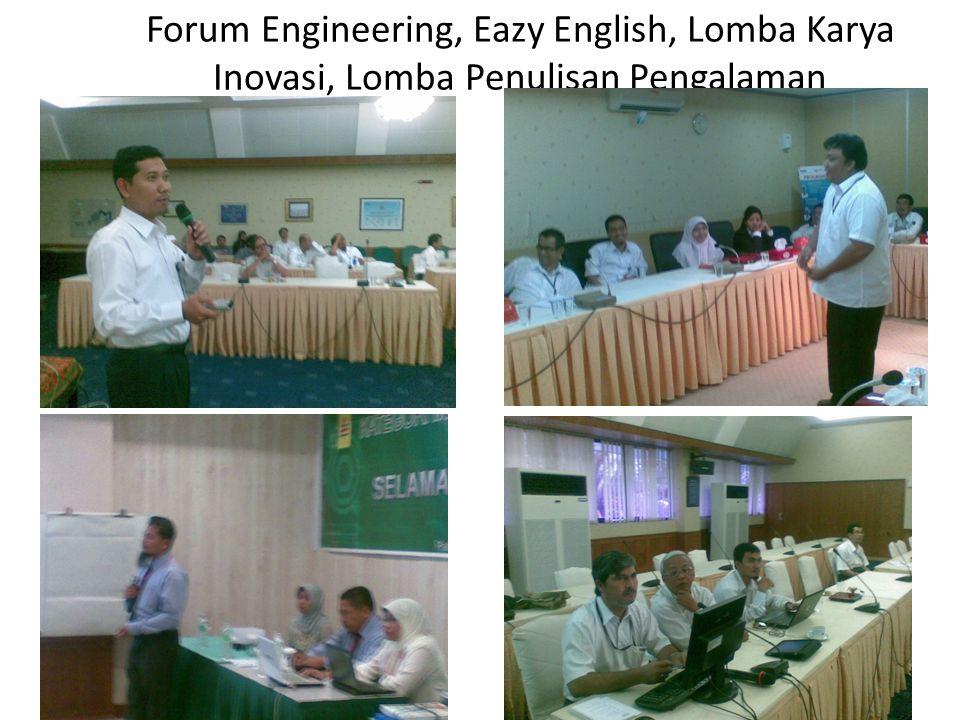Forum Engineering, Eazy English, Lomba Karya Inovasi, Lomba Penulisan Pengalaman