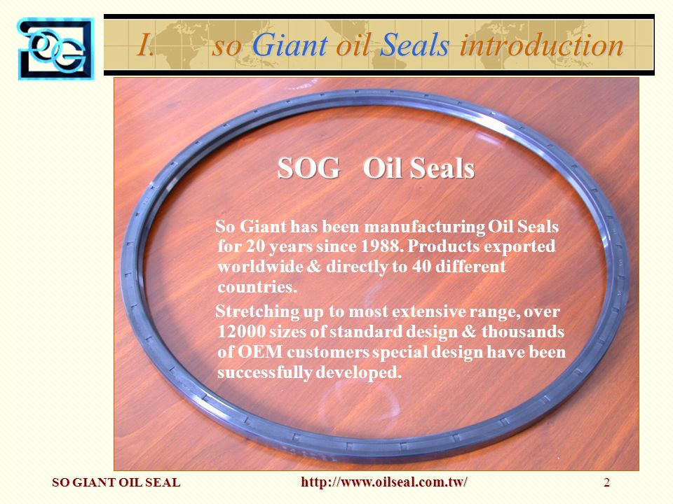 so Giant oil Seals introduction
