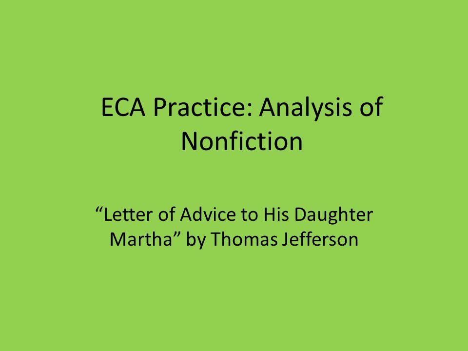 ECA Practice: Analysis of Nonfiction
