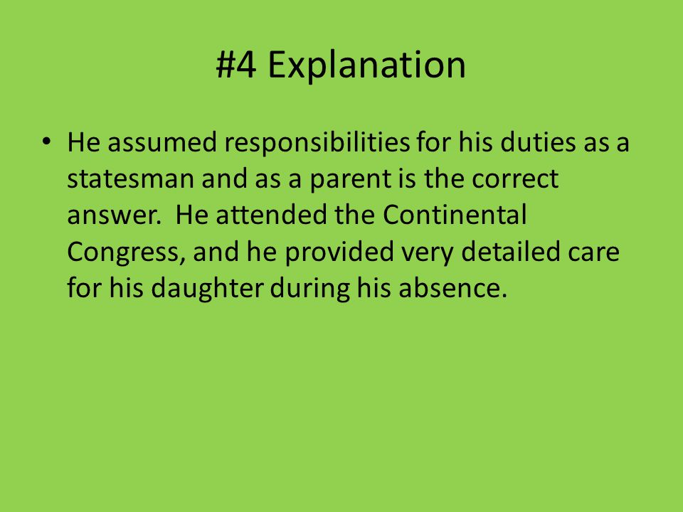 #4 Explanation