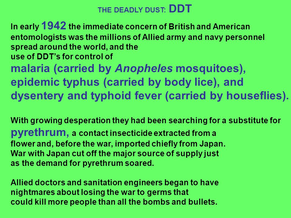 malaria (carried by Anopheles mosquitoes),