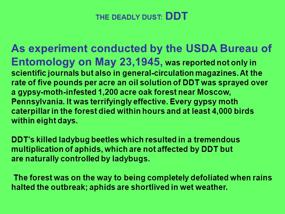 THE DEADLY DUST: DDT