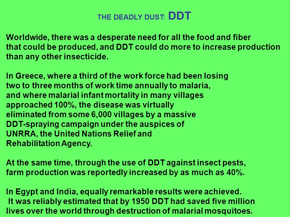 Worldwide, there was a desperate need for all the food and fiber
