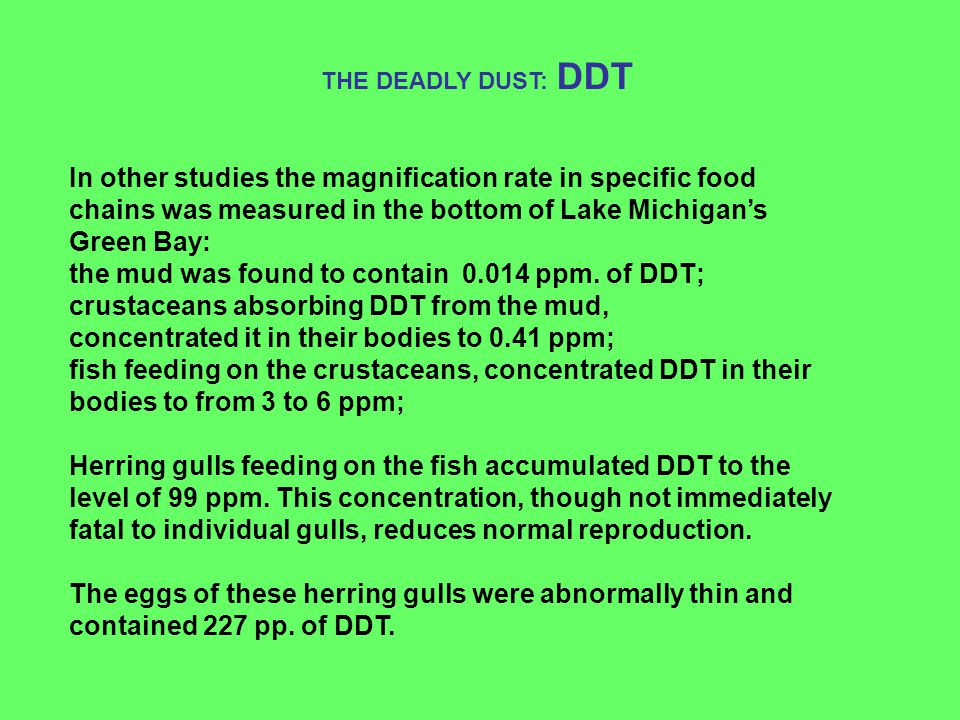 the mud was found to contain 0.014 ppm. of DDT;