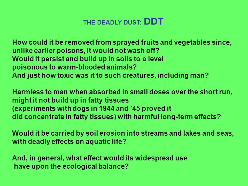 How could it be removed from sprayed fruits and vegetables since,