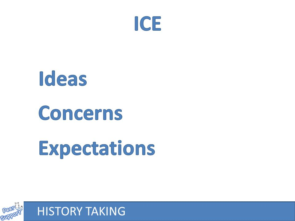ICE Ideas Concerns Expectations