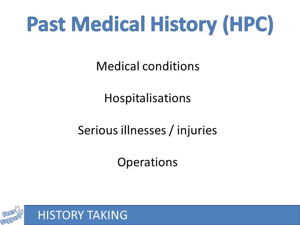 Past Medical History (HPC)