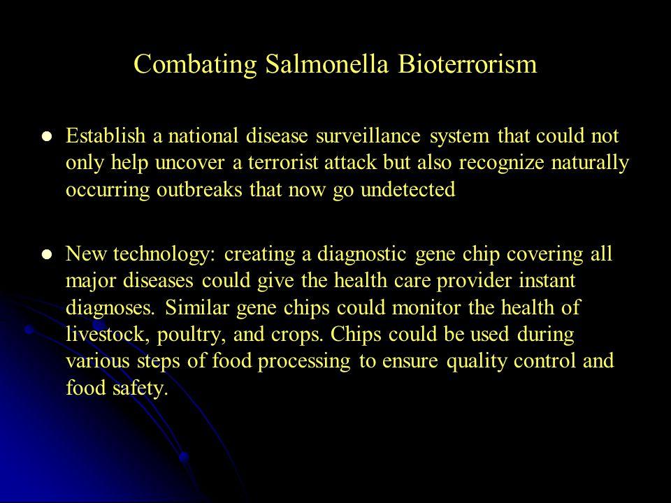 Combating Salmonella Bioterrorism