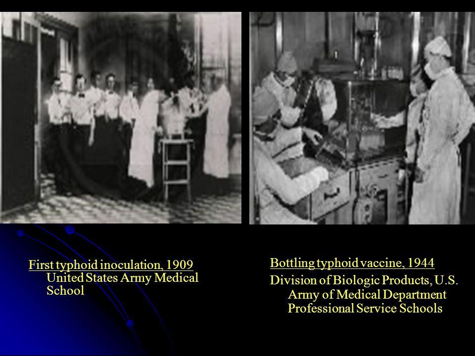 Bottling typhoid vaccine, 1944