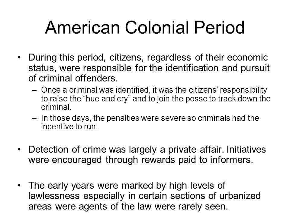 American Colonial Period