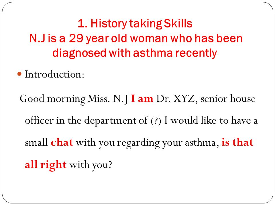 1. History taking Skills N