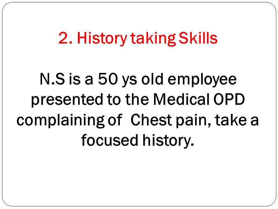 2. History taking Skills N