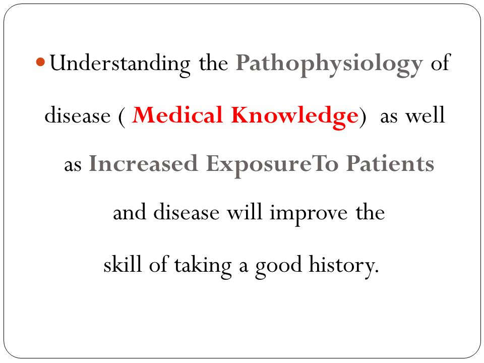 Understanding the Pathophysiology of
