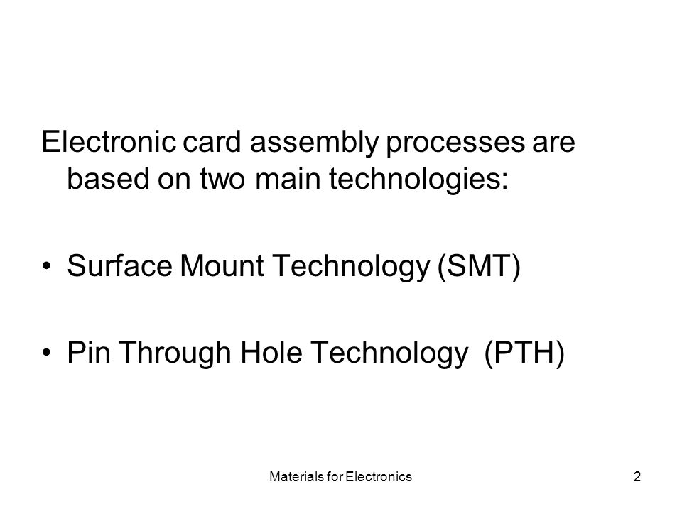 Materials for Electronics