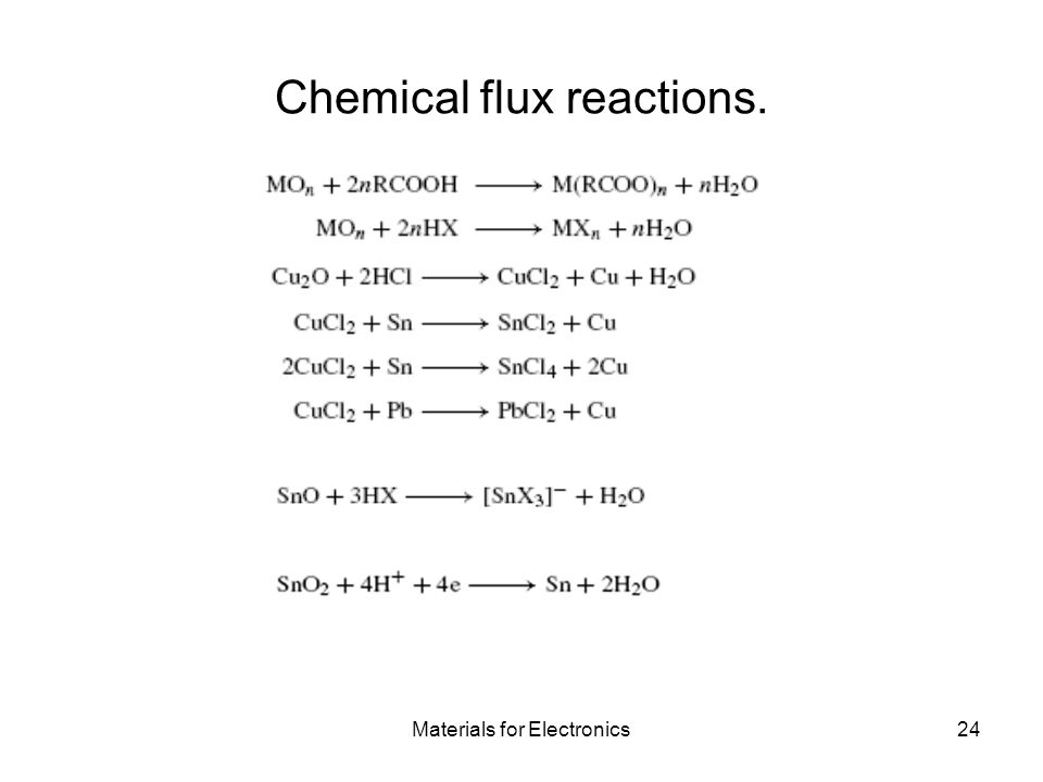 Chemical flux reactions.