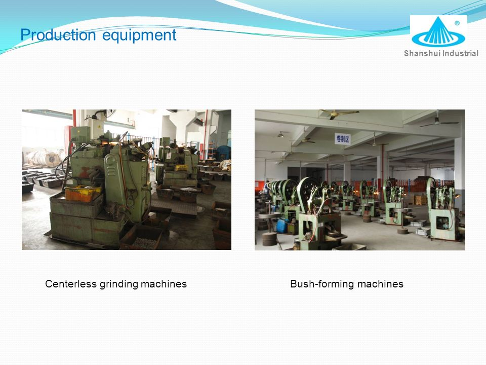 Production equipment Centerless grinding machines