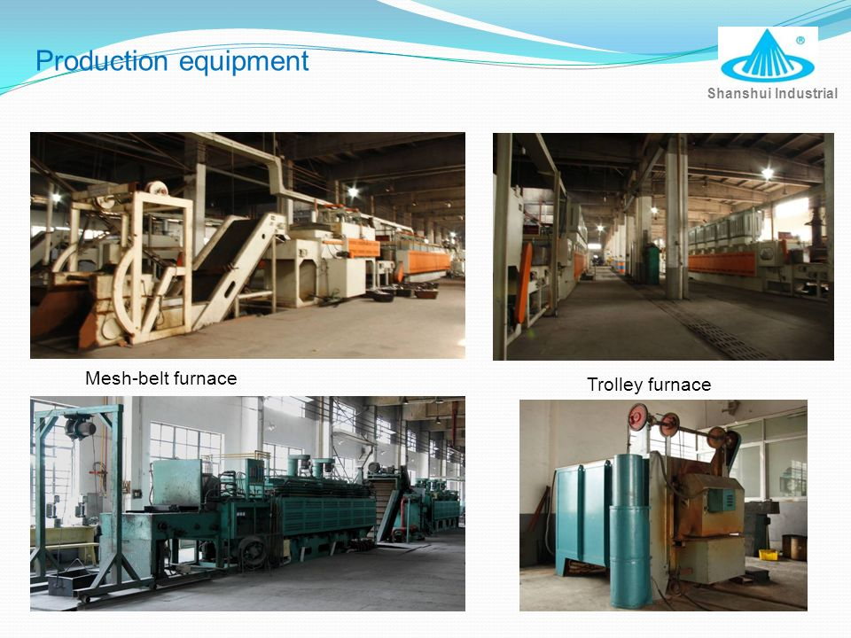 Production equipment Mesh-belt furnace Trolley furnace