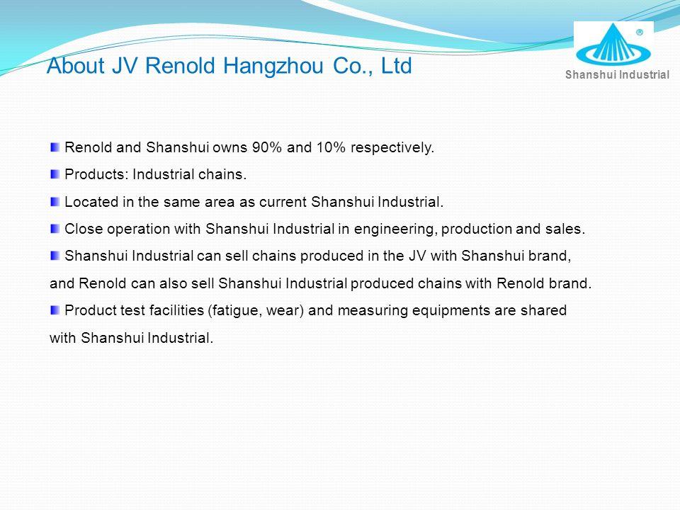 About JV Renold Hangzhou Co., Ltd
