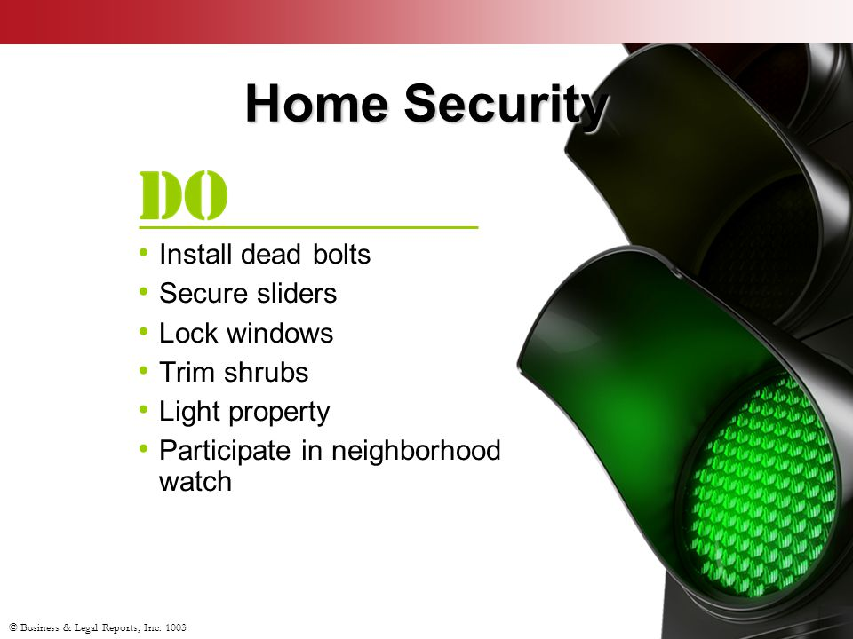 Home Security Install dead bolts Secure sliders Lock windows