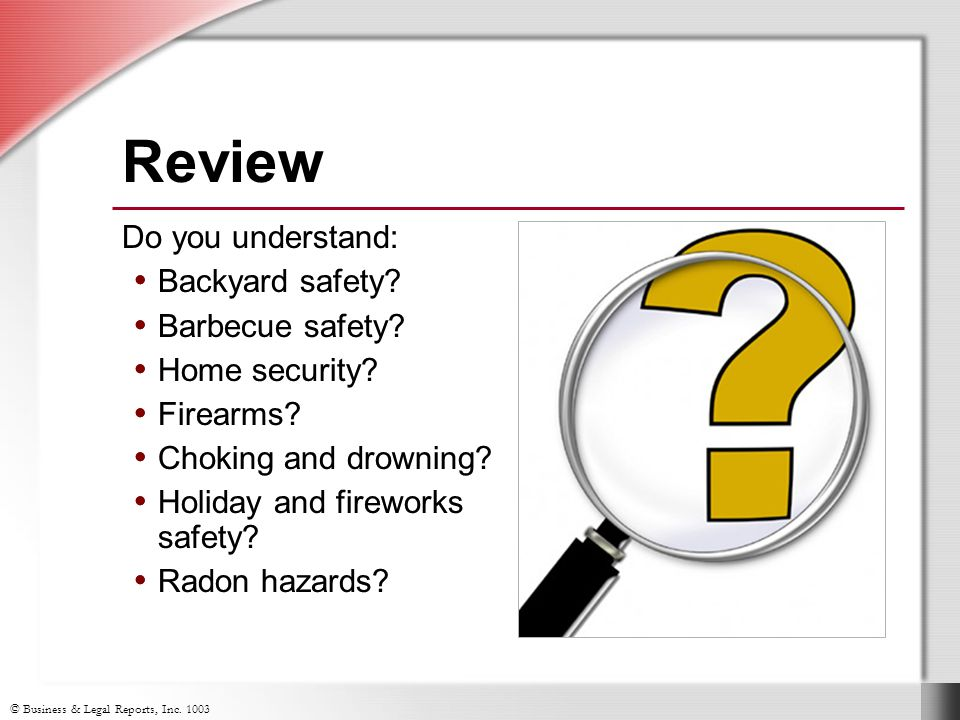 Review Do you understand: Backyard safety Barbecue safety