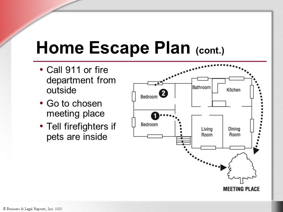 Home Escape Plan (cont.)