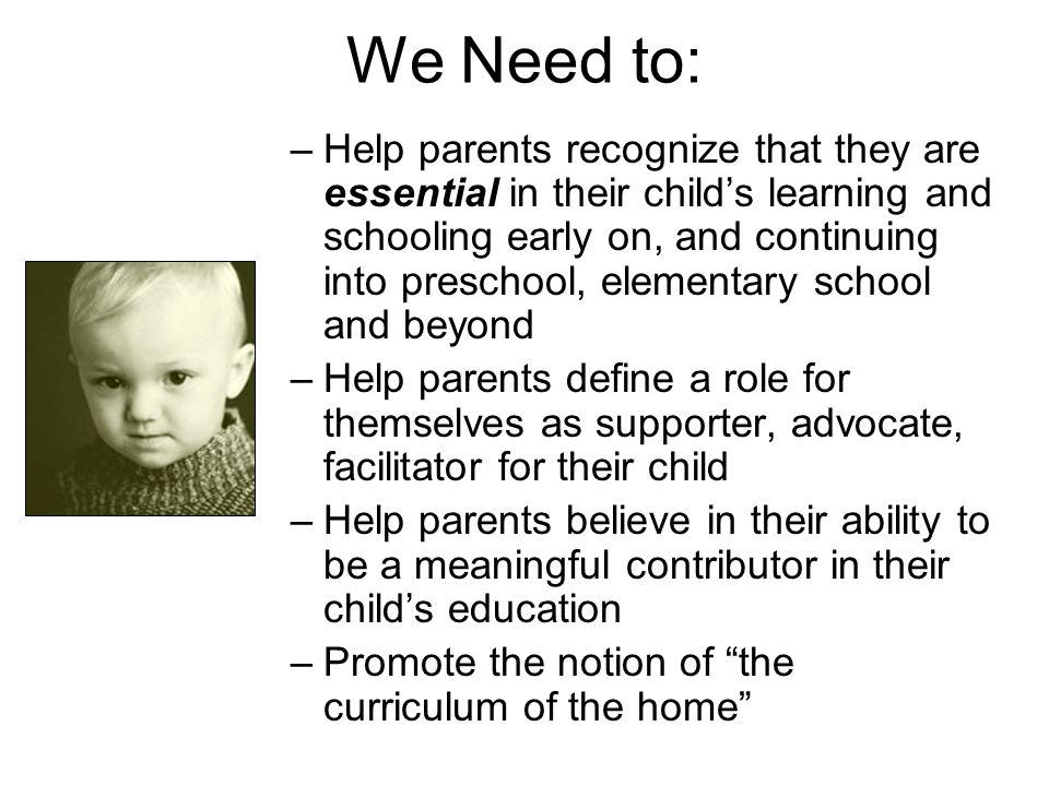 We Need to: