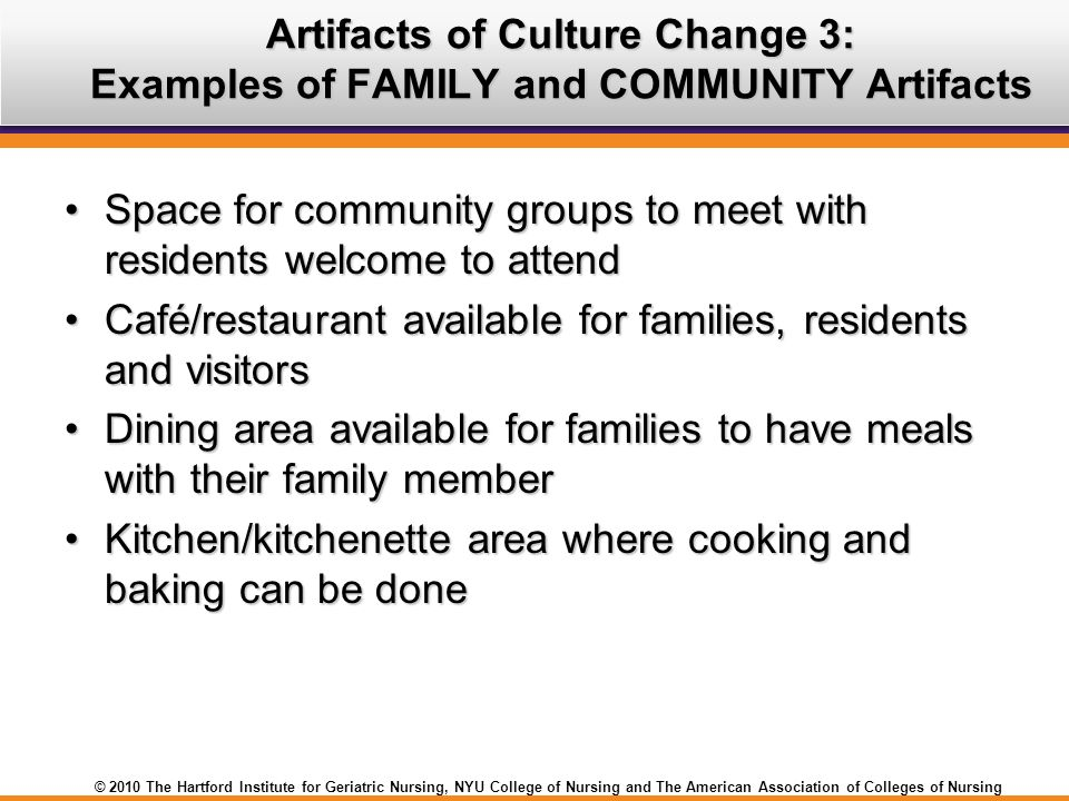 Artifacts of Culture Change 3: Examples of FAMILY and COMMUNITY Artifacts