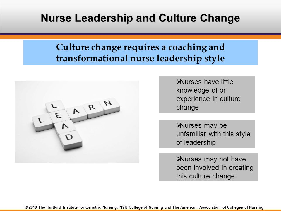 Nurse Leadership and Culture Change