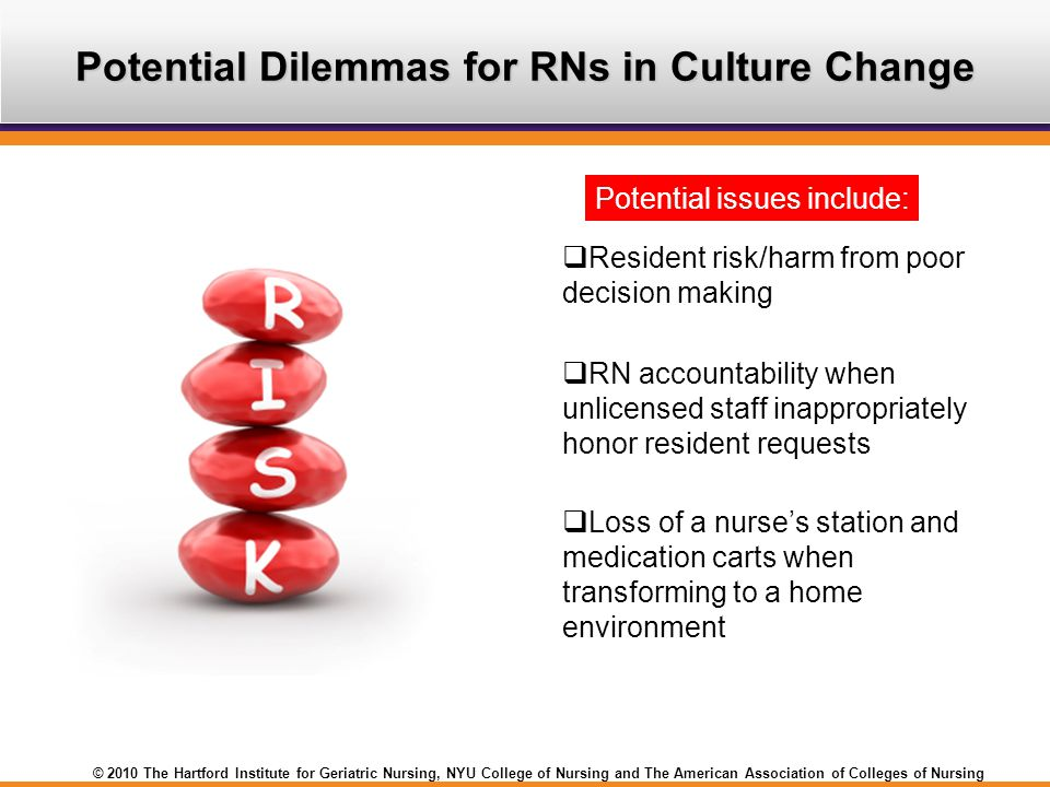 Potential Dilemmas for RNs in Culture Change