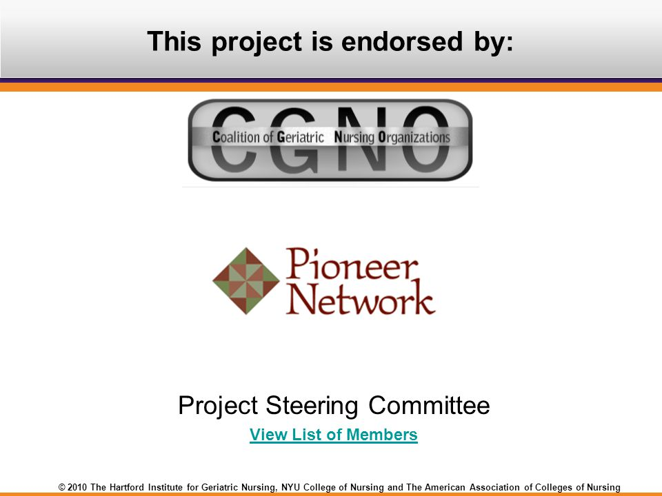 This project is endorsed by: