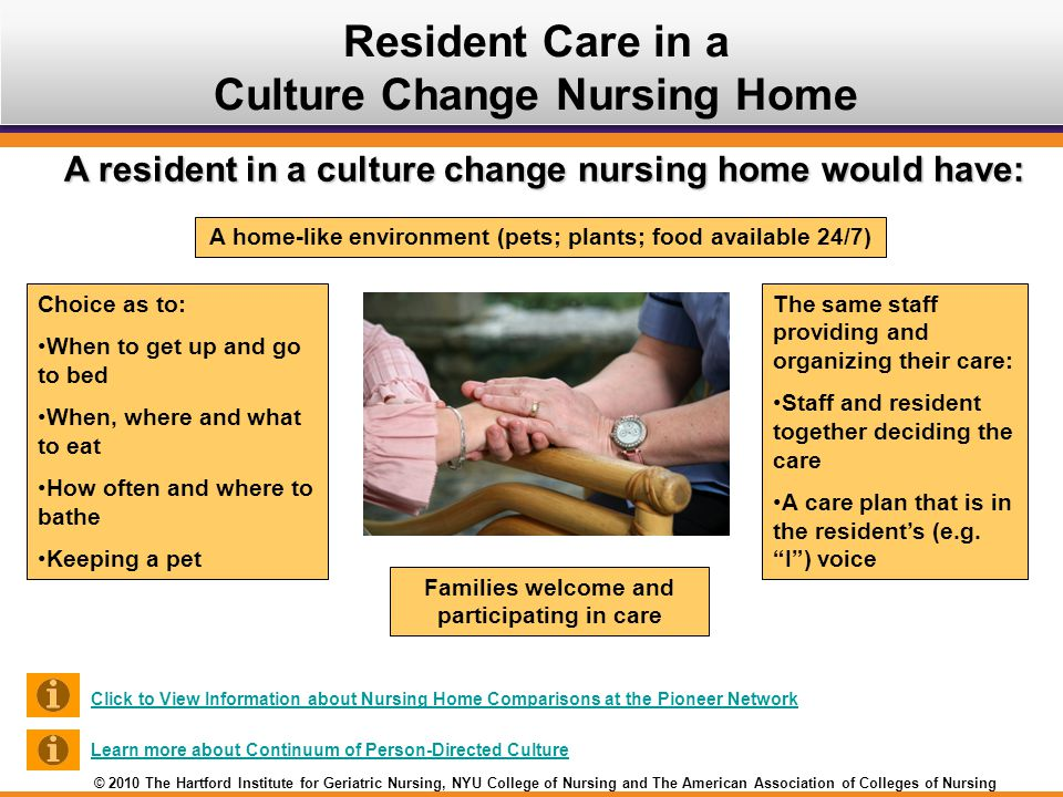 Resident Care in a Culture Change Nursing Home