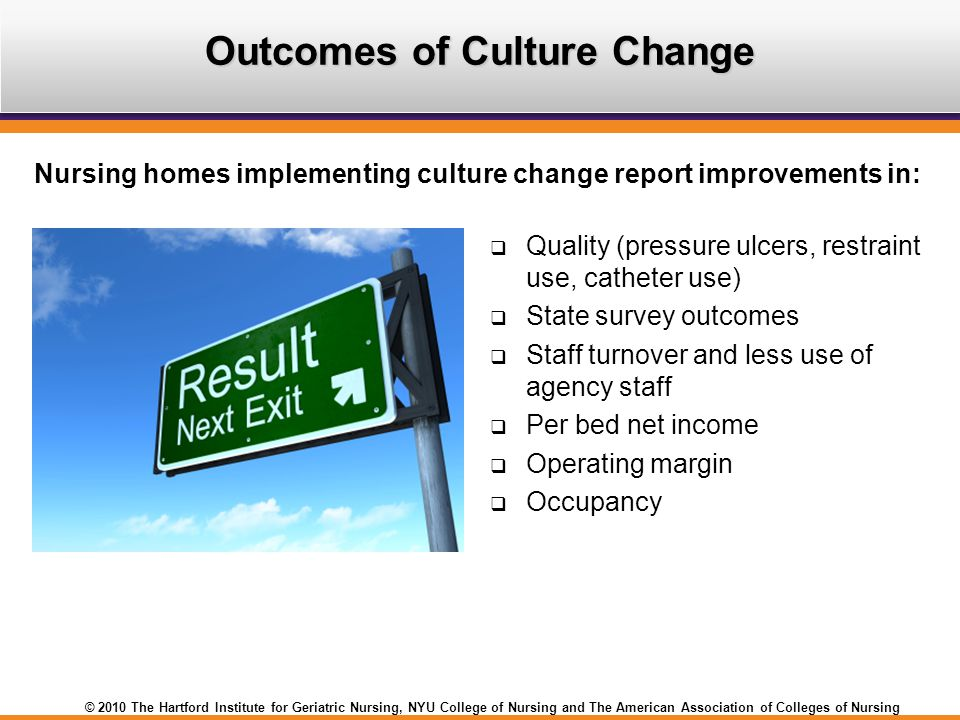 Outcomes of Culture Change
