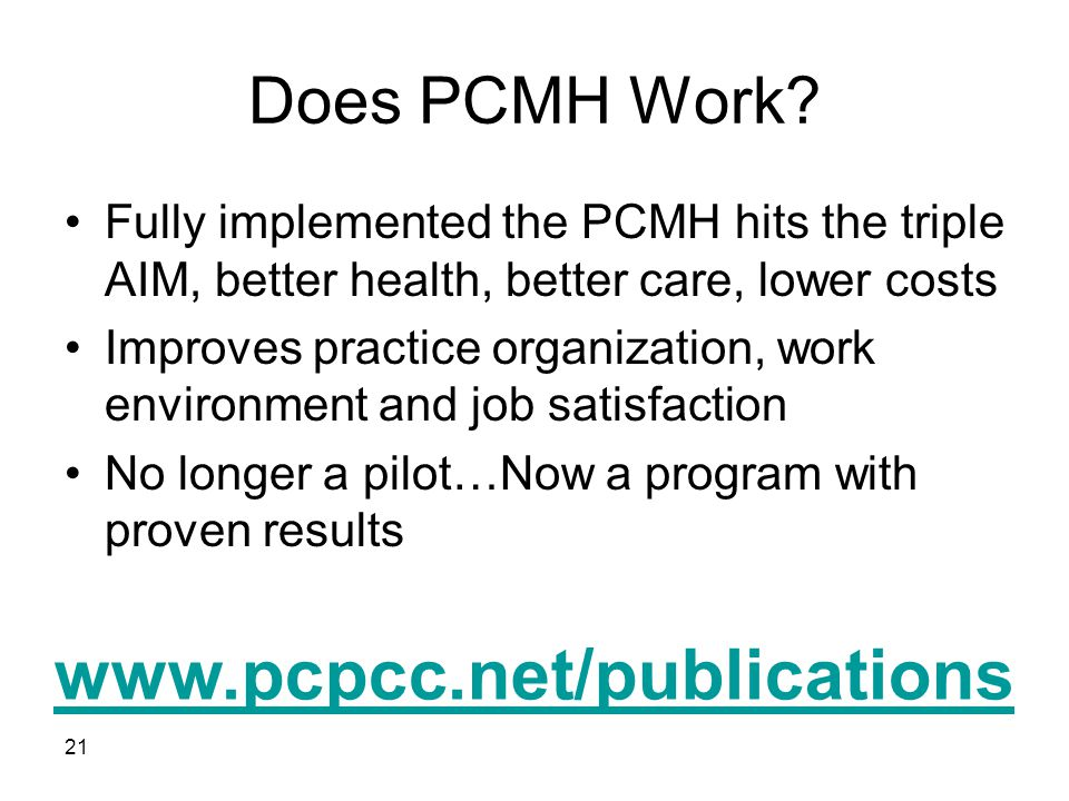 Does PCMH Work