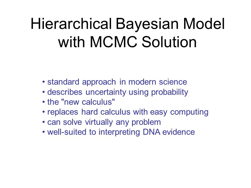 Hierarchical Bayesian Model with MCMC Solution