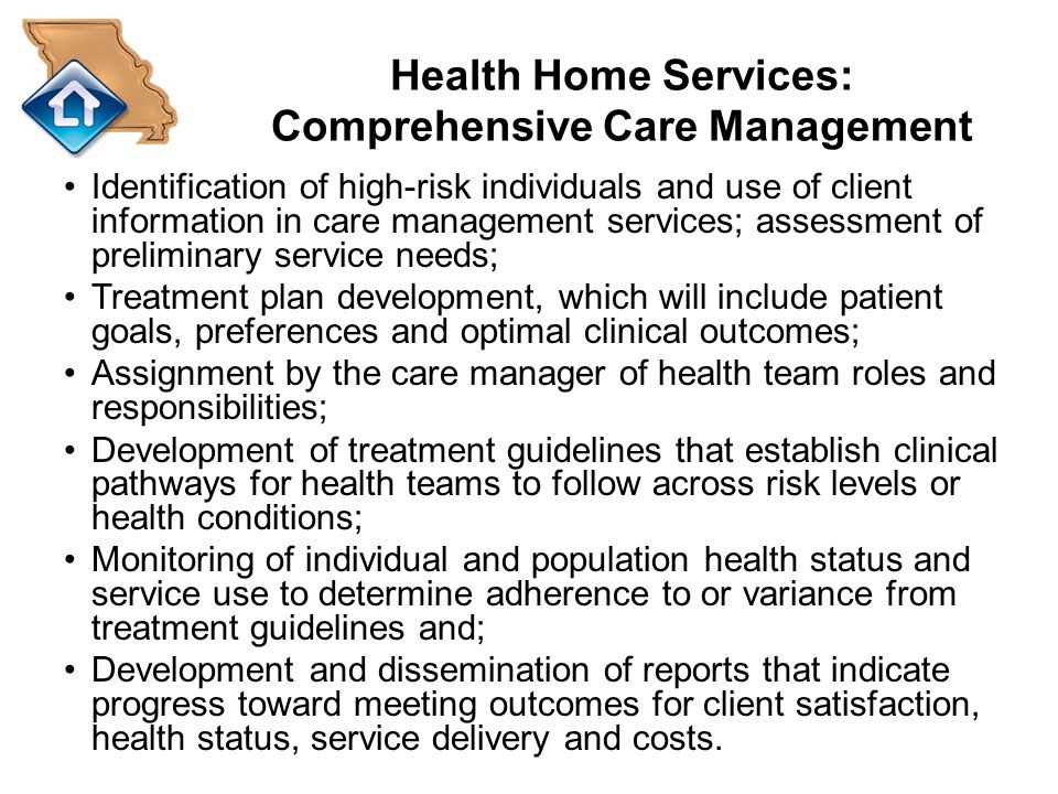 Health Home Services: Comprehensive Care Management