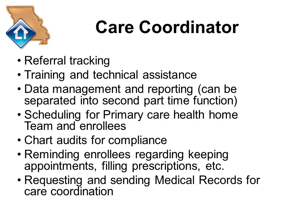 Care Coordinator Referral tracking Training and technical assistance
