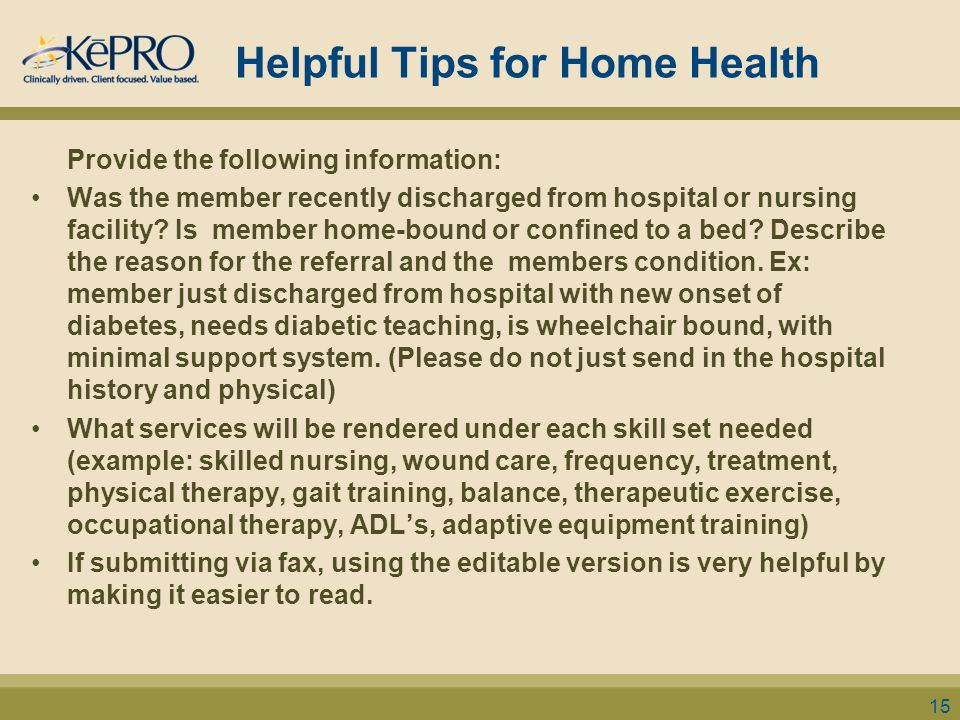 Helpful Tips for Home Health